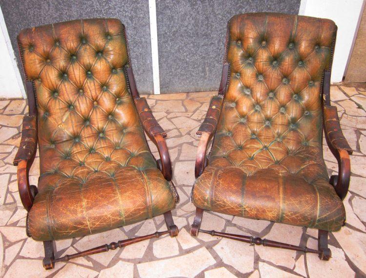 Rénovation fauteil en cuir